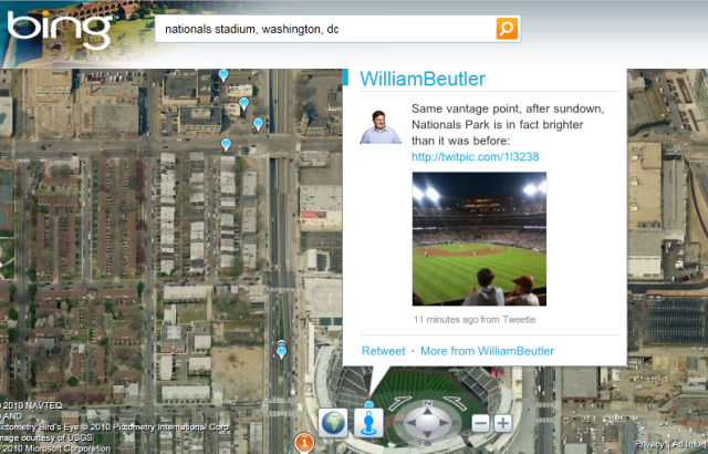 Bing's Twitter Maps show you what's going on