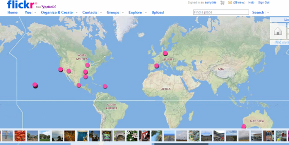 A map of my favorite pictures on flickr.