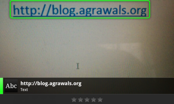 Plain text URLs work just fine in Google Goggles.