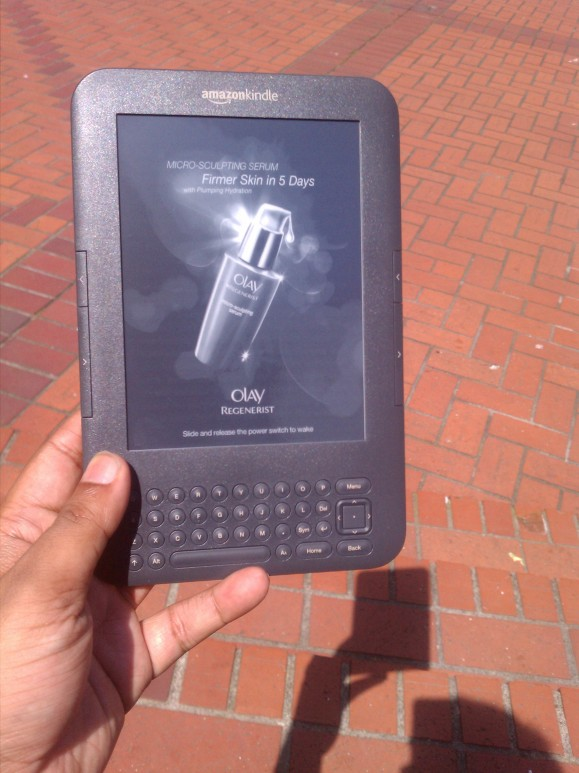 A Kindle ad for Oil of Olay