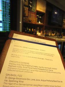 Centurion SFO cocktail menu