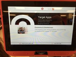 Target app, on a tablet