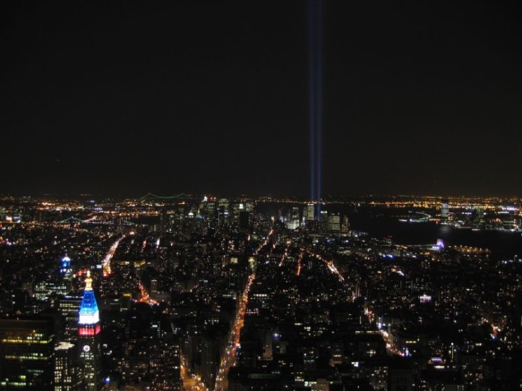 Tribute in Light, from Empire State Building